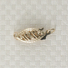 Load image into Gallery viewer, 14k Yellow Solid Gold Marquise Filigree Fish Hook Safety Clasp