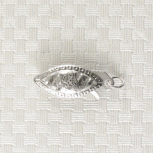 Load image into Gallery viewer, 14k White Gold Marquise Filigree Fish Hook Safety Clasp w/ Close Jump Rings