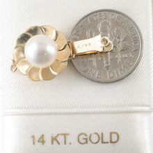 Load image into Gallery viewer, 13mm 14K Solid Yellow Gold with Closed Jump Rings White Cultured Pearl Clasp