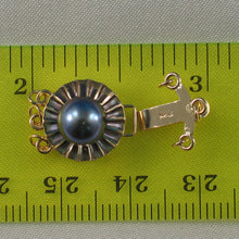 Load image into Gallery viewer, 14K Solid Yellow Gold Triple Strands (3 rows) Black Cultured Pearl Clasp