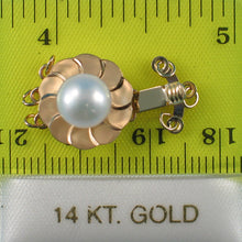 Load image into Gallery viewer, 14K Solid Yellow Gold Triple Strands (3 rows) White Cultured Pearl Clasp
