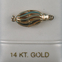 Load image into Gallery viewer, 14K Solid Yellow Gold 9 x 24 mm Wave Shape Clasp