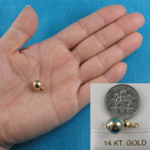 14k Yellow Gold High polished 9mm Ball Pearl Bead Clasp