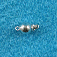 Load image into Gallery viewer, 14k White Gold High polished 7mm Smooth Ball Pearl Bead Clasp