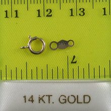 Load image into Gallery viewer, 14k Yellow Gold 5.5mm Spring Ring Clasp Come with Chain Tag