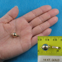 Load image into Gallery viewer, 14k Yellow Gold High polished 10mm ball Pearl Bead Clasp