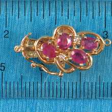 Load image into Gallery viewer, 14K Solid Yellow Gold Genuine Natural Red Ruby with Diamond Clasp