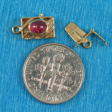 Load image into Gallery viewer, 14K Solid Yellow Gold Genuine Natural Red Ruby Clasp