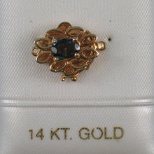Load image into Gallery viewer, 14K Solid Yellow Gold Oval Cut Genuine Natural Blue Sapphire Clasp