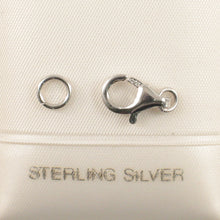 Load image into Gallery viewer, Solid Sterling Silver 925 with a Rhodium Finish Trigger 6x11mm Clasp