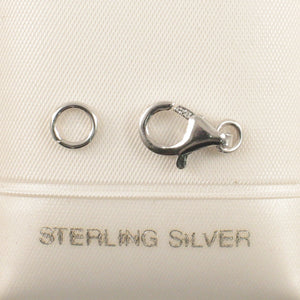 Solid Sterling Silver 925 with a Rhodium Finish Trigger 6x11mm Clasp