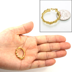 Shortener Necklace Clasp for Multiple Strands Gold Plated Oval Grip 25mm