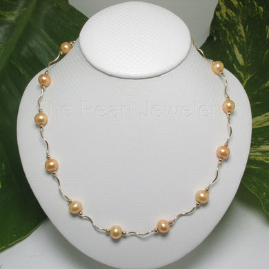 8500014-Golden-Cultured-Pearls-14k-Yellow-Gold-Spiral-Tube-Necklace