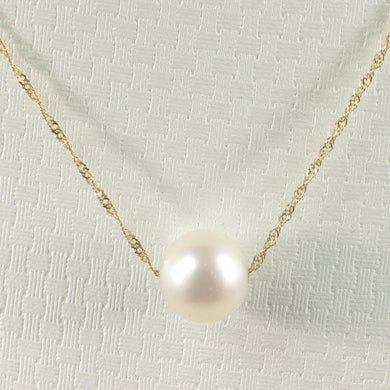 8500170-White-Cultured-Pearl-Necklace-14k-Yellow-Gold-Chain