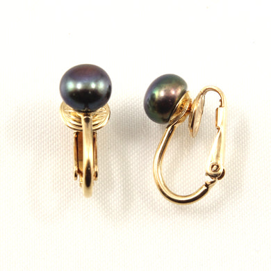 9100011-14k-Yellow-Gold-Filled-Non-Pierced-Clip-On-Black-Cultured-Pearl-Earrings