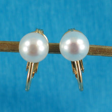 Load image into Gallery viewer, 14k Yellow Gold Filled Non Pierced Clip-On White Cultured Pearl Earrings
