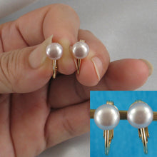 Load image into Gallery viewer, 14k Yellow Gold Filled Non Pierced Clip-On Pink Cultured Pearl Earrings