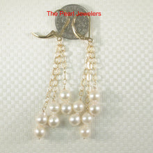 Load image into Gallery viewer, 14k Gold Filed Leverback Genuine White Cultured Pearl Drop/Dangle Earrings