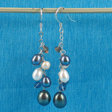 Load image into Gallery viewer, 925 Sterling Silver O Chain Handcrafted Max Size Pearl Dangle Hook Earrings