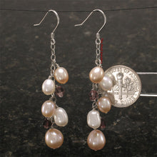 Load image into Gallery viewer, Solid Silver 925 O Chain Handcrafted & Max Size Pearl Dangle Hook Earrings