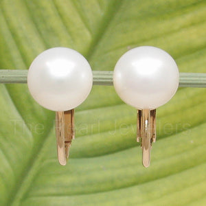 1/20 14k Gold Filled Non Pierced Clip On; 10.5mm White Cultured Pearls Earrings