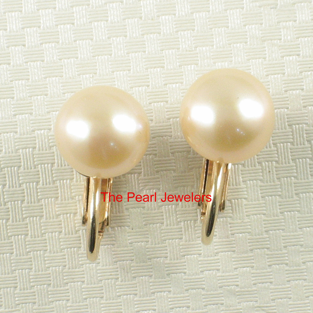 1/20 14k Gold Filled Non-Pierced Clip On; 11mm Pink Cultured Pearls Earrings