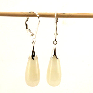 9110017-Solid-Sterling-Silver-925-Raindrop-Honey-Jade-Dangle-Leverback-Earrings