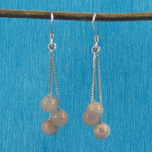 Load image into Gallery viewer, Solid Silver 925 Box Chain Hook 6mm Genuine Moon Stone Dangle Earrings