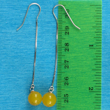 Load image into Gallery viewer, Solid Silver 925 Box Chain Hook 8mm Genuine Agate Dangle Earrings