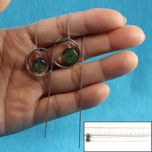 Load image into Gallery viewer, Green Kyanite Threader Earrings Sterling Silver, Long Chain Earrings