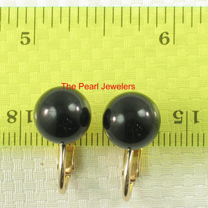 1/20 14k Yellow Gold Filled Non-Pierced Clip Genuine Black Onyx Earrings