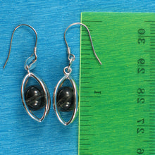 Load image into Gallery viewer, Solid Sterling Silver .925 Lucky Lanterns Genuine Smoke Quartz Hook Earrings