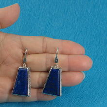 Load image into Gallery viewer, Gorgeous Natural Lapis Lazuli Hook Solid Sterling Silver 925 Earrings