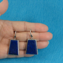 Load image into Gallery viewer, Solid Sterling Silver 925 Gorgeous Natural Lapis Lazuli Hook Earrings