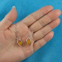 Load image into Gallery viewer, Solid Sterling Silver .925 Lucky Lanterns Unique Genuine Agate Hook Earrings
