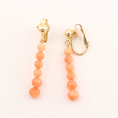9130134-14k-Yellow-Gold-Filled-Non-Pierced-Clip-On-Coral-Earrings