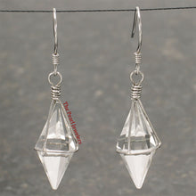 Load image into Gallery viewer, Good Fortune Genuine Crystal Hand Crafted Hook Earrings; Sterling Silver 925