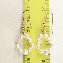 Load image into Gallery viewer, White Small Baroque Pearl Simple Style Gold Plate Handcrafted Hook Earrings