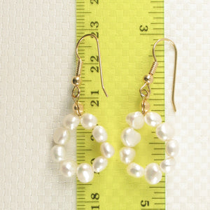 White Small Baroque Pearl Simple Style Gold Plate Handcrafted Hook Earrings