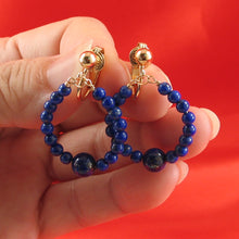 Load image into Gallery viewer, 14k Yellow Gold Filled Non-Pierced Clip-On Handcrafted Blue Lapis Earrings