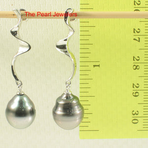 91T0091-Genuine-Two-Tones-Tahitian-Pearl-Dangle-Stud-Solid-Silver-925-Earrings