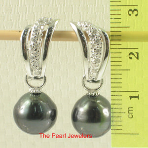 91T0711-Tahitian-Black-Pearl-Solid-Silver-925-Euro-Back-Dangle-Earrings