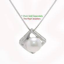 Load image into Gallery viewer, Unique Pendant; 9-10mm Natural White Cultured Pearl & Sterling Silver 925
