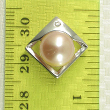 Load image into Gallery viewer, Sterling Silver 925 Unique Pendant Set 9-10mm Natural Pink Cultured Pearl & C.Z