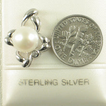Load image into Gallery viewer, White Cultured Pearl & C.Z Sterling Silver 925 Flower Design Pendants