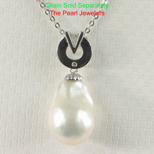 Load image into Gallery viewer, Simple Sterling Silver 925 Stunning Baroque Nucleated Culture Pearl Pendant