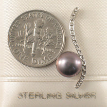 Load image into Gallery viewer, Solid Sterling Silver 925 Water Flow Style Freshwater Cultured Pearl Pendant