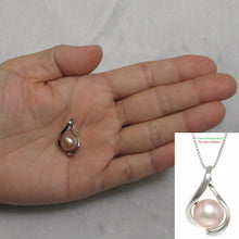 Load image into Gallery viewer, Genuine 9-10mm Natural Pink Cultured Pearl Pendant Solid Sterling Silver 925