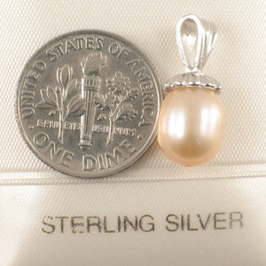Simple Yet Elegant Sterling Silver 925 Peach F/W Cultured Pearl Pendants