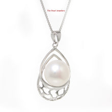 Load image into Gallery viewer, Solid Sterling Silver 925 10-11mm White Freshwater Cultured Pearl Pendant